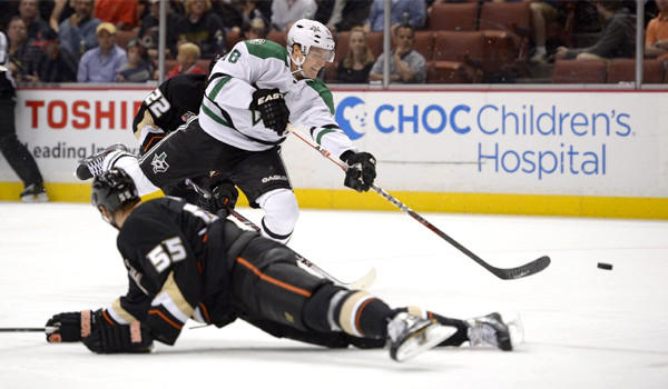 The NHL suspended Dallas Stars winger Ryan Garbutt for five games for a helmet-to-helmet hit that knocked out the Ducks' Dustin Penner on Sunday night.
