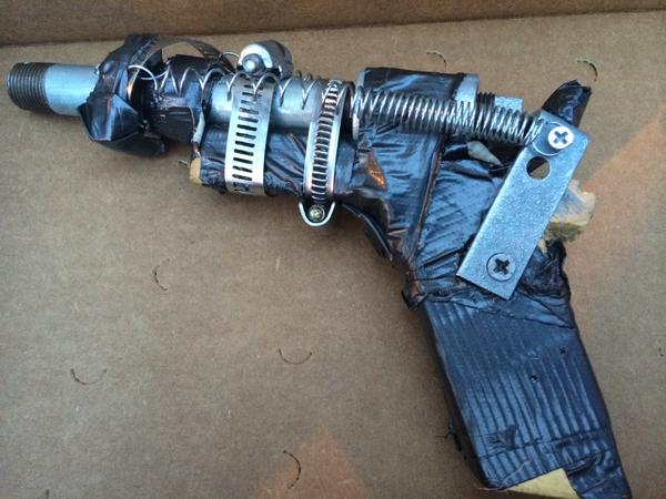 "One suspect of the weekend robberies in the East Rock area of New Haven had this ""zip-gun"" in his possession."