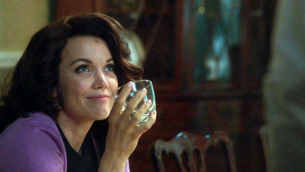 "First Lady Mellie Grant (Bellamy Young) has some hooch on ABC's ""Scandal."""