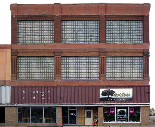 This is the current condition of building at 321 S. Main St. Renovations and a facade project are planned for the near future.