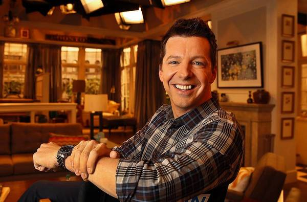 """Sean Hayes on the Universal Studios set of his new show, """"Sean Saves The World."""""""