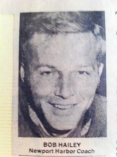 A vintage photo of Bob Hailey, former Newport Harbor High track and field coach.