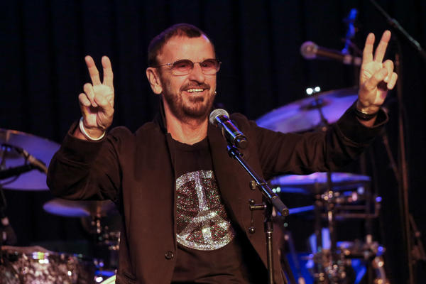 Drummer and former Beatle Ringo Starr performs with his All Starr band at Studio Instrument Rentals in Hollywood on Wednesday.