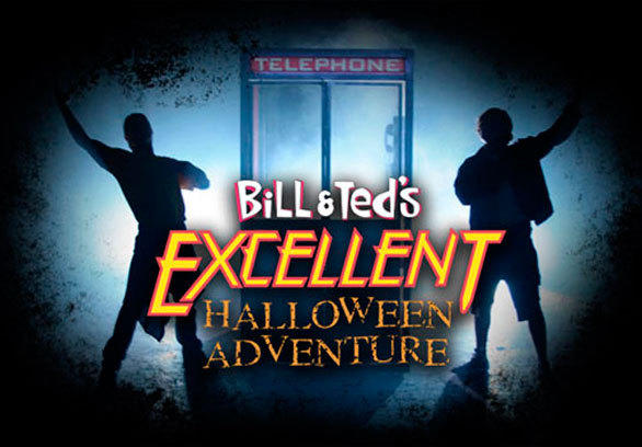 """""""Bill and Ted's Excellent Halloween Adventure"""" stage show at Universal Studios Hollywood has been canceled amid criticism it is insensitive to gays."""