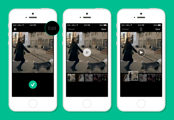 "Vine's new ""Time Travel"" feature allows users to edit their videos by reorganizing their shots before posting."