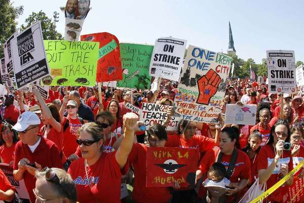 Chicago teachers hit the bricks in 2012. You got a problem with that?