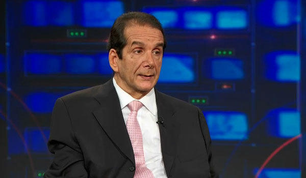 "Charles Krauthammer debates conservatism and liberalism on ""The Daily Show."""