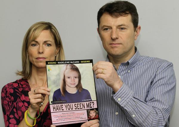 Kate and Gerry McCann's daughter Madeleine disappeared from a vacation rental apartment in Portugal's Algarve region in 2007. Above, they are shown last year holding a computer-generated image of how Madeleine would likely look at age 9.