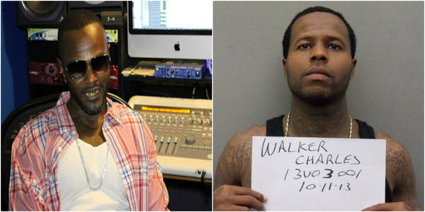 Willie Slater Jr., 36, is accused of threatening the family of his brother's killer, Charles Walker (right).