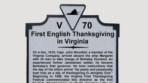 Marker commemorating the first English Thanksgiving to be unveiled Nov. 1