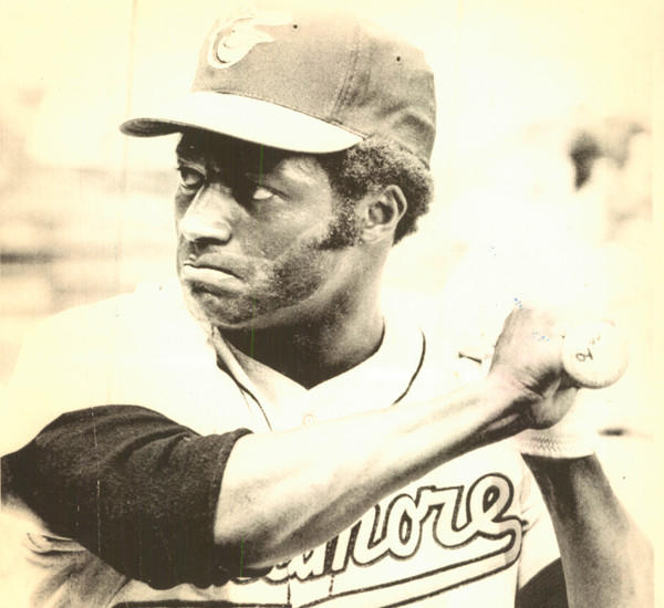 Don Buford is pictured during batting practice in 1972.