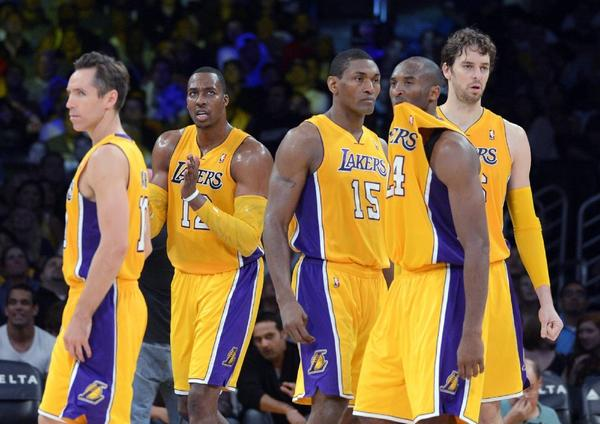 Kobe Bryant chews on his jersey during a game against the Sacramento Kings on Oct. 21, 2012.