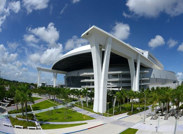 Marlins Park beginning in December 2014 will host the American Athletic Conference-owned and operated Miami Beach Bowl. (Photo by Jason Arnold/Getty Images)