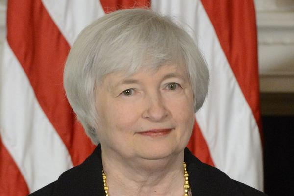 Janet Yellen listens to President Obama announce her as his nominee to replace Ben Bernanke as chairman of the Federal Reserve. If confirmed by the Senate, she would be the first Democrat to fill the position since 1987. Yellen is currently serving as the Vice Chairwoman of the Federal Reserve.