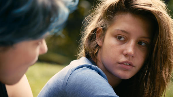"Lea Seydoux, left, and Adele Exarchopoulos in the film ""Blue Is the Warmest Color,"" directed by Abdellatif Kechiche."