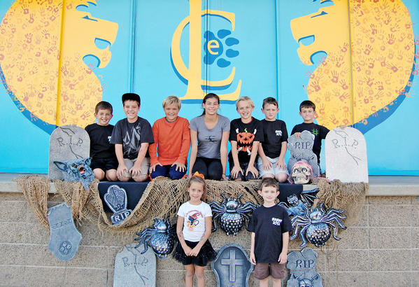 La Canada Elementary will hold its annual Halloween Haunt fundraiser on Saturday, Oct. 26. Front Row: Annalina Fogarty and Toby Thuss. Back Row: Gabriel Perez, Luke Fogarty, Luca DiPaolo, Claire Kevorkian, Drake DiPaolo, Henry Thuss, Patrick Thuss.