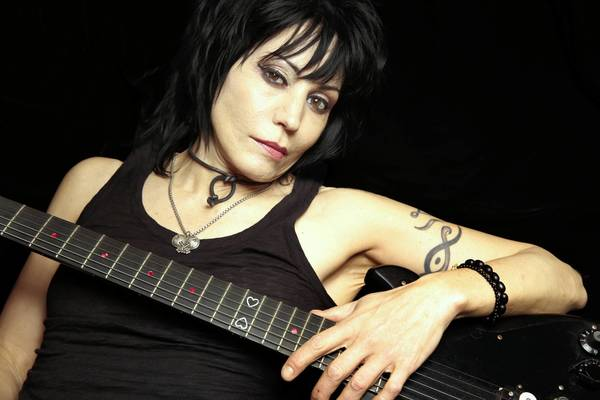 Joan Jett at her home on Long Island, N.Y.