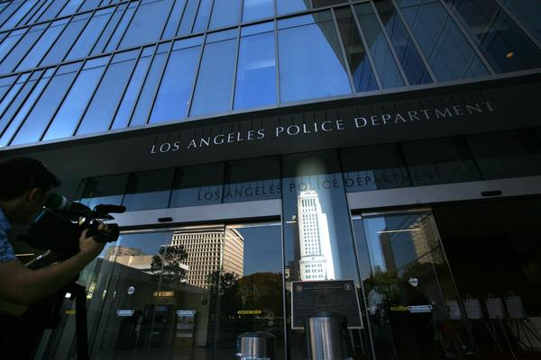 The Los Angeles Police Department's headquarters are shown in 2011. A man who complained he was struggling to breathe died in LAPD custody last month after officers ignored his repeated pleas for help, sources say.