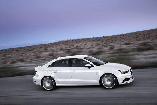 Audi announced that its all-new 2015 A3 sedan will start at $30,795 when it goes on sale next spring. It will be a direct competitor to the all-new Mercedes-Benz CLA.