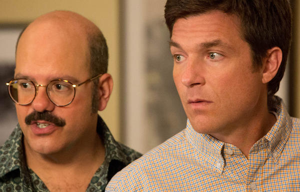"David Cross, left, and Jason Bateman film a scene from ""Arrested Development"" on Netflix."