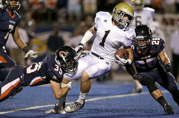 Running back Chris Colarossi and Notre Dame, which defeated Chaminade earlier this month, will take on Crespi in Serra League play Friday night.