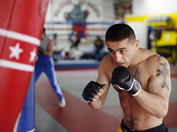 Former The Ultimate Fighter contestant Sevak Magakian of Glendale will fight in the mixed-martial-arts Chaos at the Casino main event against another former Ultimate Fighter, Chris Saunders, on Nov. 23 at Hollywood Park. (File Photo)