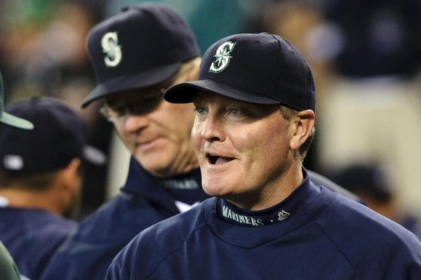 Eric Wedge (left) managed the Mariners and, before going to Seattle, was manager of the Indians.