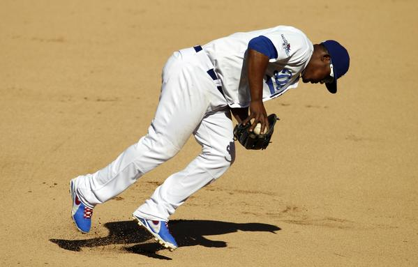 Third baseman Juan Uribe is one of five Dodgers who has been named a Gold Glove finalist.