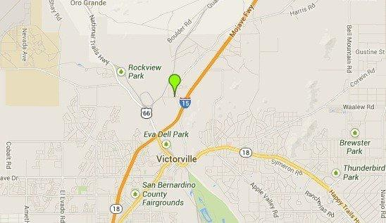 A map shows the approximate location of where the body of a baby was found in Victorville on Thursday.