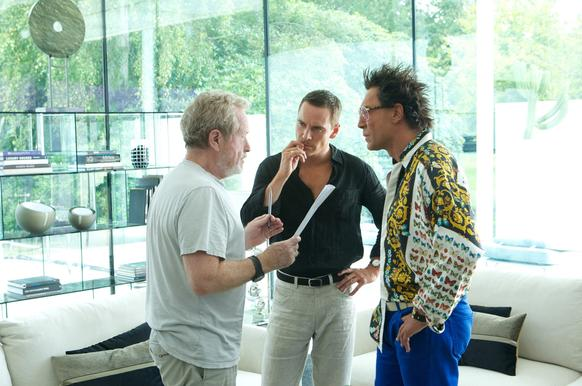 "<b>Film:</b> ""The Counselor,"" 2013 <br><br> <b>Hair: </b>All spiked-up hair and silken menace  <br><br>  <i> By Chris Lee </i>"