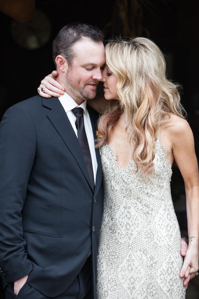 White Sox pitcher John Danks and country singer Ashley Monroe at their wedding.