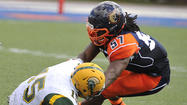 Morgan State LB Cody Acker is getting used to being the man in the middle