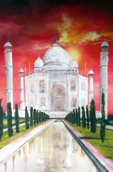A painting of the Taj Mahal by young artist Camellia Steele is part of this week's Toluca Lake Fine Arts Festival.