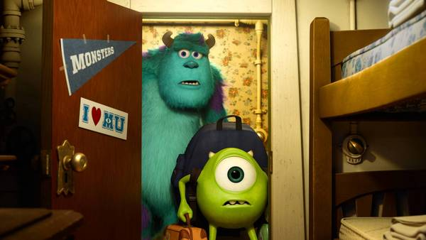 "Sulley and Mike in ""Monsters University."""