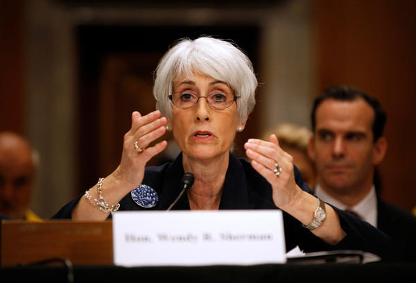 Undersecretary of State Wendy Sherman testifies Oct. 3 on Capitol Hill in Washington before the Senate Foreign Relations Committee hearing on Iran's nuclear program.