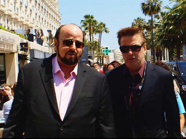 """James Toback, left, and Alec Baldwin in the 2013 documentary """"Seduced and Abandoned"""" on HBO."""