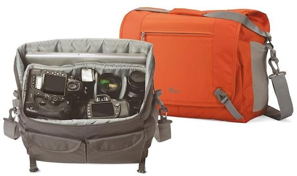 You can carry as many as two camera bodies plus assorted lenses in this Lowepro bag.