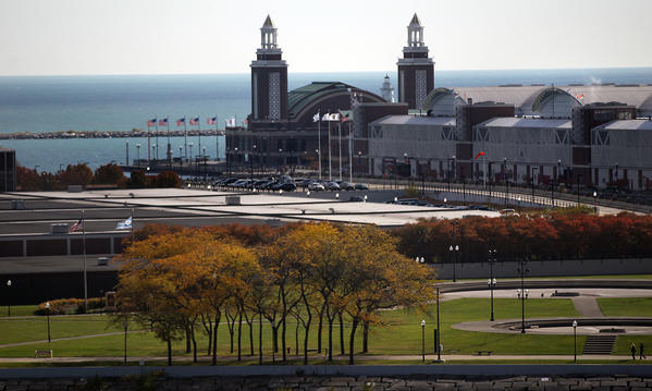 Chicago's Navy Pier seen from a high rise near Chicago Ave., Oct. 16, 2012.