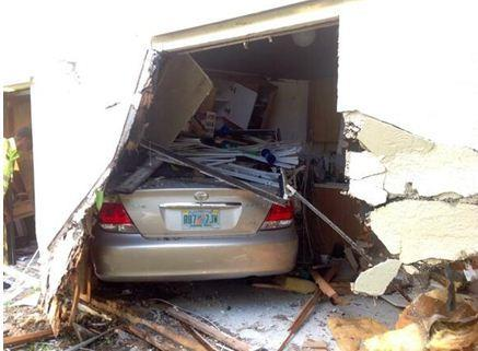 Car plows into kitchen injuring driver, mother and child in North Lauderdale