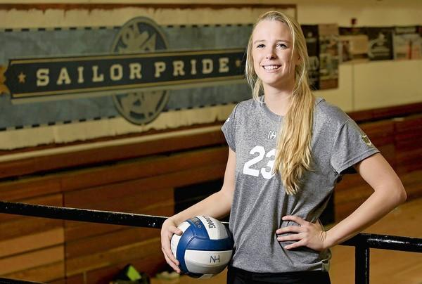 Newport Harbor High senior volleyball player Carolyn Bockrath is the Daily Pilot High School Athlete of the Week.