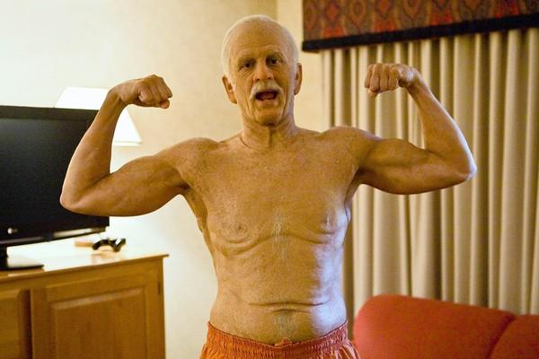 "A heavily made-up Johnny Knoxville stars in ""Jackass Presents: Bad Grandpa."""