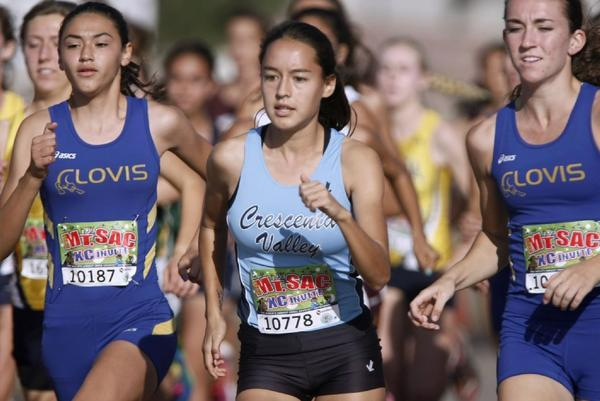 Crescenta Valley High's Megan Melnyk led the Falcons on Saturday at Mt. SAC. (RAUL ROA Staff Photographer)