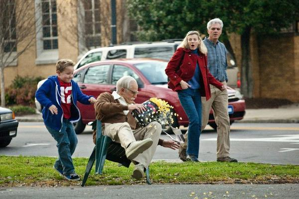 "Jackson Nicoll (left) and Johnny Knoxville star as 8-year-old Billy and 86-year-old grandpa Irving in ""Jackass Presents: Bad Grandpa."""