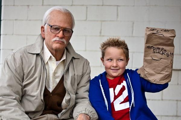 "Johnny Knoxville, left, and Jackson Nicoll star in ""Bad Grandpa,"" which was No. 1 at the box office this weekend."