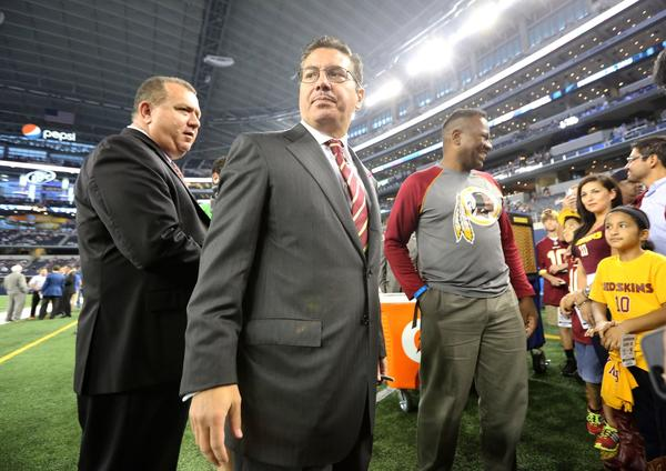 Washington Redskins owner Daniel Snyder visits with fans before an Oct. 13 game against the Dallas Cowboys.