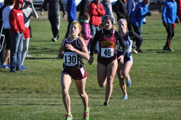 Northern States Sasha Hovind (130) finished ninth in the NSIC womens cross country meet in Sioux Falls on Saturday.