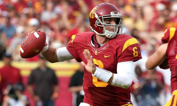 USC quarterback Cody Kessler was sacked five times in Saturday's 19-3 win over Utah.