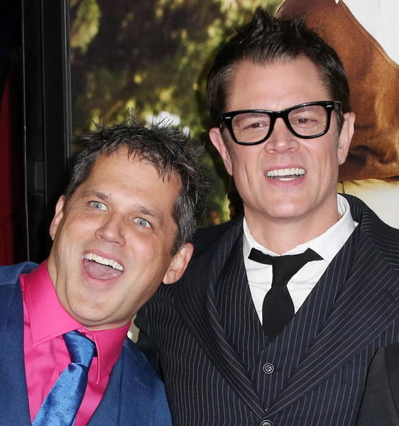 "Director/Producer Jeff Tremaine (L) and actor Johnny Knoxville attend the Premiere of Paramount Pictures' ""Jackass Presents: Bad Grandpa"" at the TCL Chinese Theatre on October 23, 2013 in Hollywood."