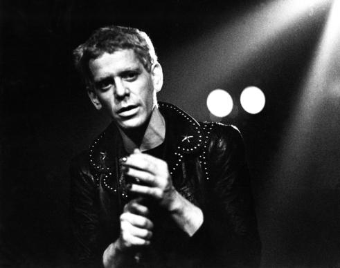 Lou Reed performs live on stage in Amsterdam.