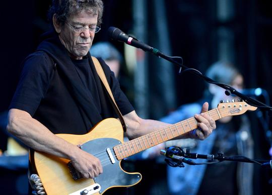 Lou Reed performing on stage at the Zitadelle Spandau in Berlin, Germany, in 2011.